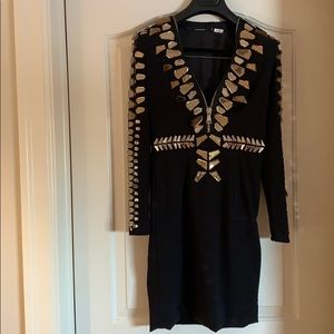 Givenchy Bedazzled gold and Black dress.Authentic